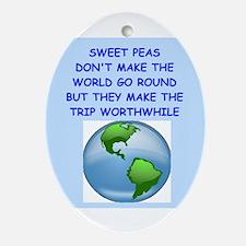 SWEET PEAS Ornament (Oval)