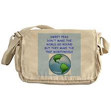 SWEET PEAS Messenger Bag