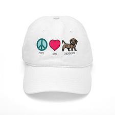 Peace Love & Dachshunds Baseball Cap