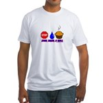 Stop Drop And Roll Fitted T-Shirt