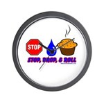 Stop Drop And Roll Wall Clock