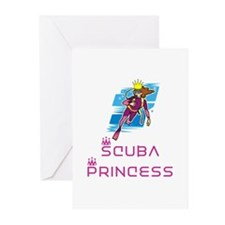 ScubaPrincess Greeting Cards (Pk of 10)