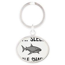 WHALE-SHARKS13416 Oval Keychain