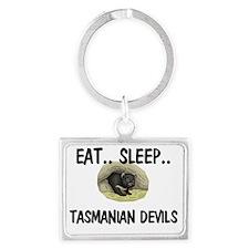 2-TASMANIAN-DEVILS1541 Landscape Keychain