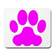 Pink Big Cat Paw Print Mousepad