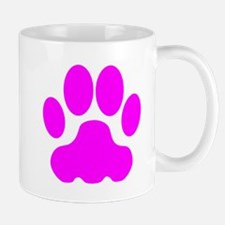 Pink Big Cat Paw Print Small Mug