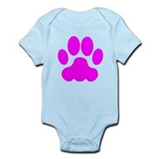 Pink Big Cat Paw Print Body Suit