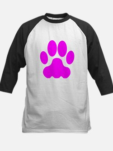 Pink Big Cat Paw Print Baseball Jersey