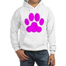 Pink Big Cat Paw Print Jumper Hoody