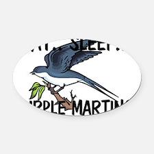 PURPLE-MARTINS58113 Oval Car Magnet