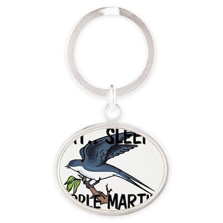 PURPLE-MARTINS58113 Oval Keychain