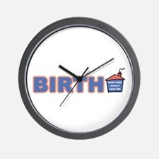 Birth - every home (horizontal) Wall Clock