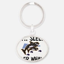 KILLER-WHALES4135 Oval Keychain