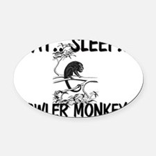 HOWLER-MONKEYS9252 Oval Car Magnet