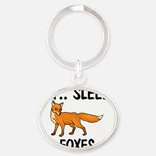 FOXES8994 Oval Keychain