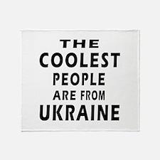 The Coolest Ukraine Design Throw Blanket