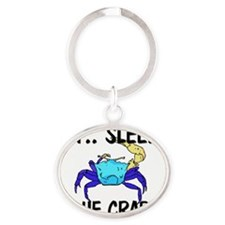 BLUE-CRABS50193 Oval Keychain