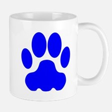 Blue Big Cat Paw Print Small Mug