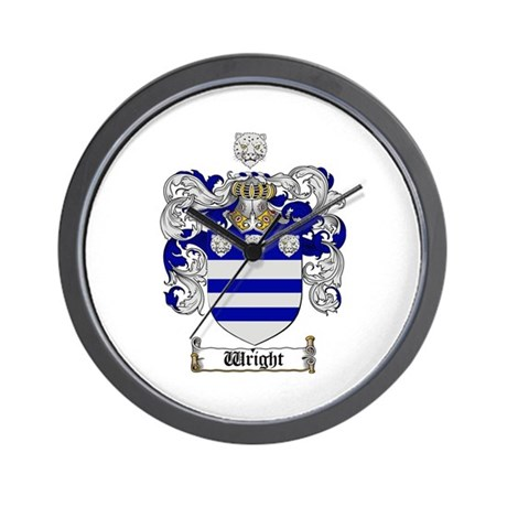 Wright Coat of Arms Crest Wall Clock