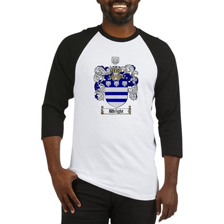 Wright Coat of Arms Crest Baseball Jersey