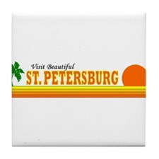 Visit Beautiful St. Petersbur Tile Coaster