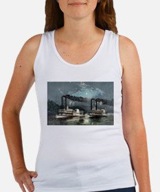 A midnight race on the Mississippi - 1890 Tank Top