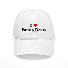 I Love Panda Bears Baseball Cap