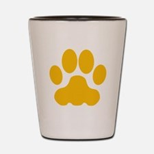 Orange Big Cat Paw Print Shot Glass