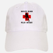 Donate Blood Play Rugby Baseball Baseball Cap