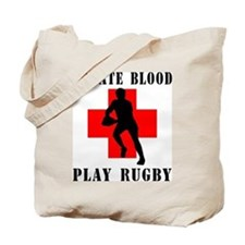 Donate Blood Play Rugby Tote Bag