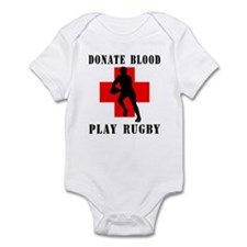 Donate Blood Play Rugby Infant Bodysuit