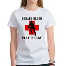 Donate Blood Play Rugby Tee