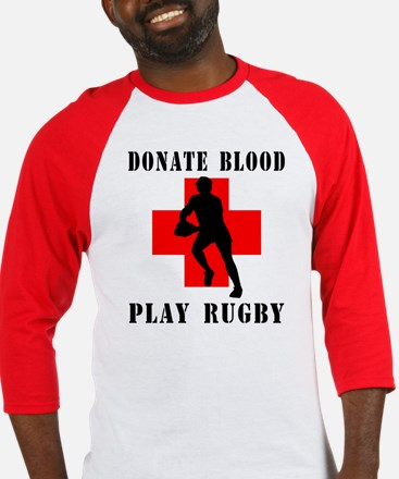 Donate Blood Play Rugby Baseball Jersey
