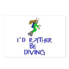 I'd rather be diving! Postcards (Package of 8)