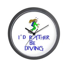 I'd rather be diving! Wall Clock