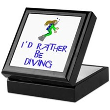 I'd rather be diving! Keepsake Box