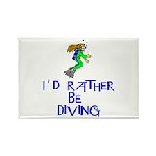 I'd rather be diving! Rectangle Magnet