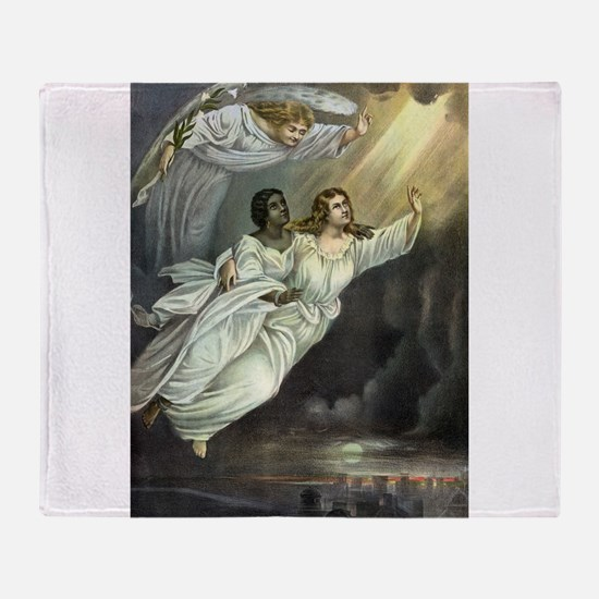 The Spirit's flight - 1893 Throw Blanket
