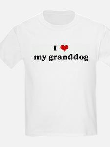 I Love my granddog Kids T-Shirt