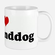 I Love my granddog Small Small Mug