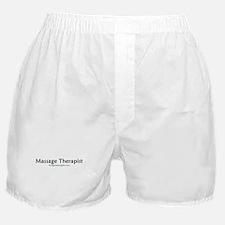 massage therapist, black font Boxer Shorts