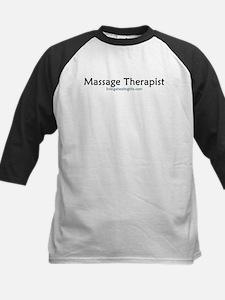massage therapist, black font Tee