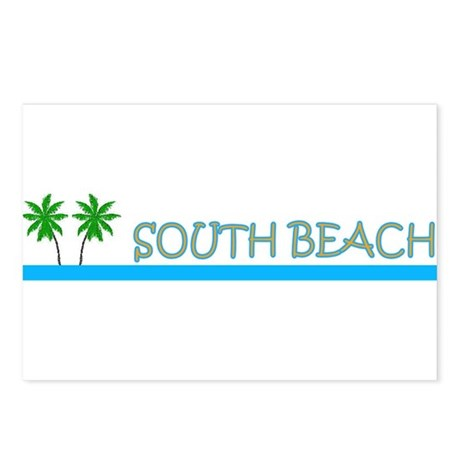 South Beach, Florida Postcards (Package of 8)