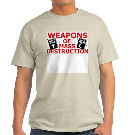 Bible Koran WMD T-Shirt (Grey) M
