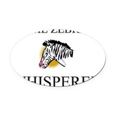 ZEBRA1481 Oval Car Magnet