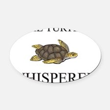 TURTLE10423 Oval Car Magnet