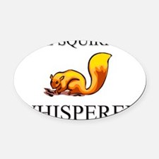SQUIRREL12350 Oval Car Magnet