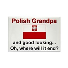 Good Looking Polish Grandpa Rectangle Magnet