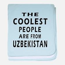 The Coolest Uzbekistan Design baby blanket