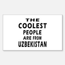 The Coolest Uzbekistan Design Decal